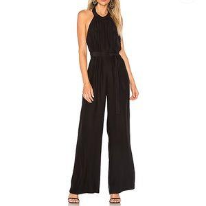amanda uprichard // black wide leg halter jumpsuit